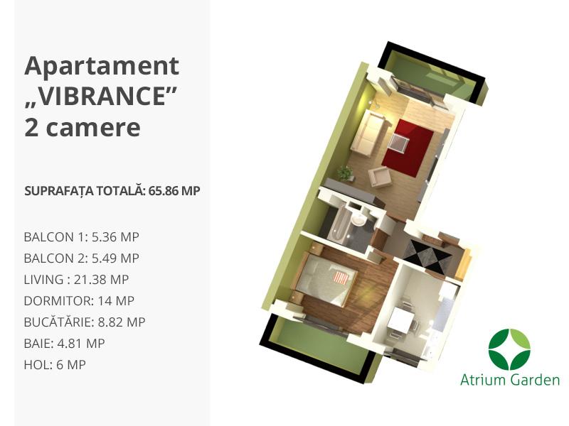 """Apartament """"VIBRANCE"""" – 2 camere"""